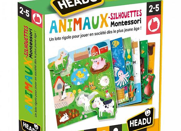 HEADU -Les Animaux-Silhouettes Montessori Âge: 2-5