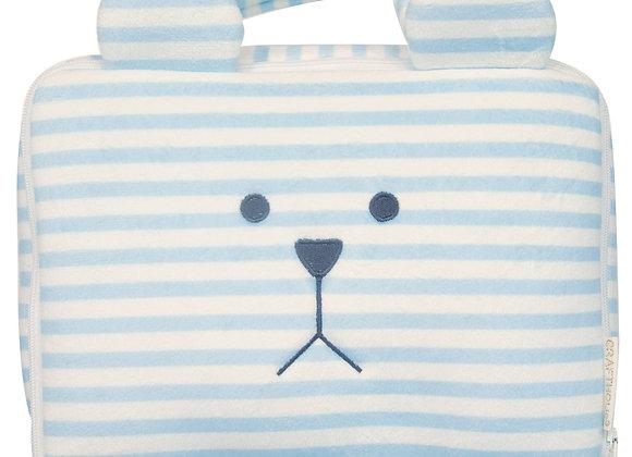 Vanity trousse de toilette lapin bleu rayé