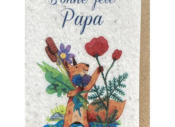 Carte à planter papa écureuil