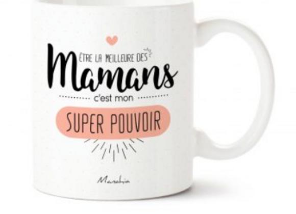 Le mug maman super pouvoirs