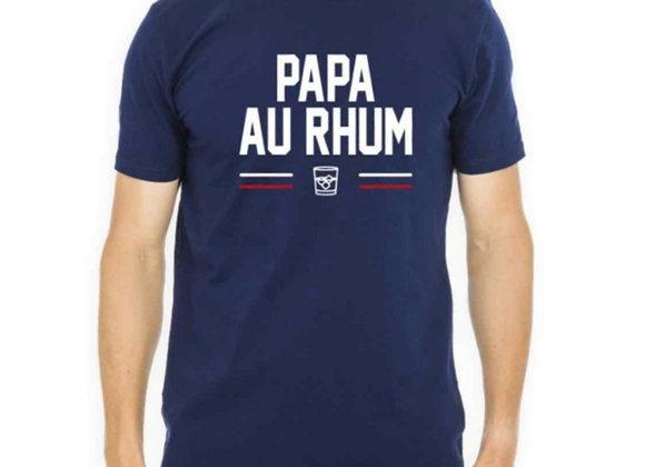 T shirt Papa au rhum marine - L