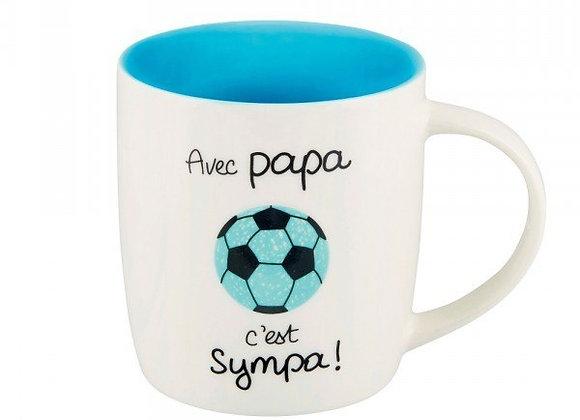 Mug maître avec papa c'est sympa