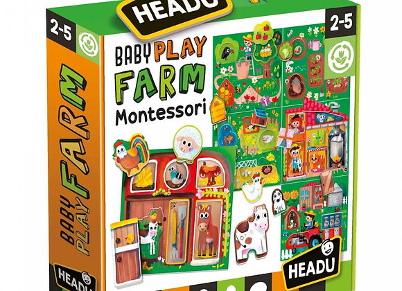 Baby Play Farm Montessori Âge: 2-5 - Headu