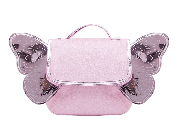 Sac Papillon Paillettes Rose