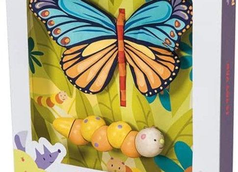 La chenille se transforme en papillon- le toy van