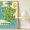 Thumbnail: Poster éducatif Carte de France + 88 stickers