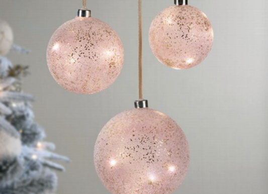 Boule rose led - 3 tailles