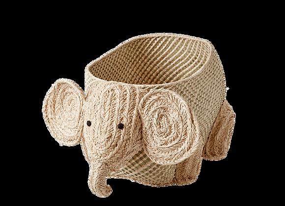 Panier raphia éléphant