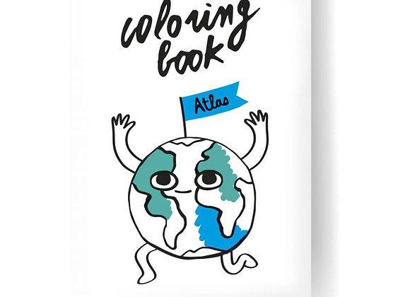 Coloring book atlas
