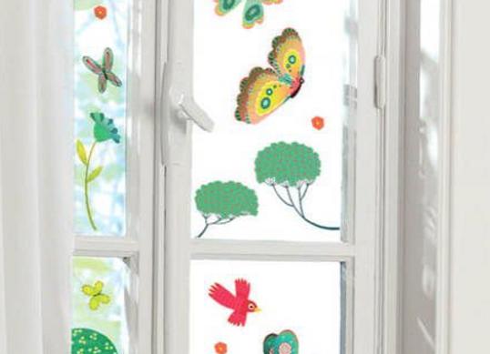 stickers « papillons au jardin »