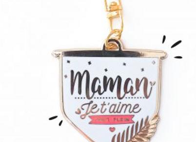 Porte-clés Maman je t'adore à l'infini