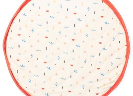 Sac de rangement / tapis de jeux motif icones