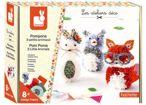 Atelier pompoms animaux