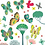 Thumbnail: stickers « papillons au jardin »