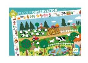 Puzzle observation La ferme 3ans - Djeco