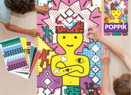 POPPIK - Poster géant + 1600 stickers  Pop Art