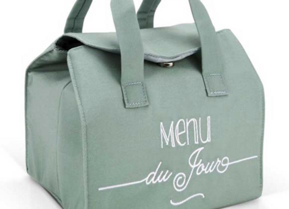 "lunch bag isotherme ""Menu du jour"" bleu"