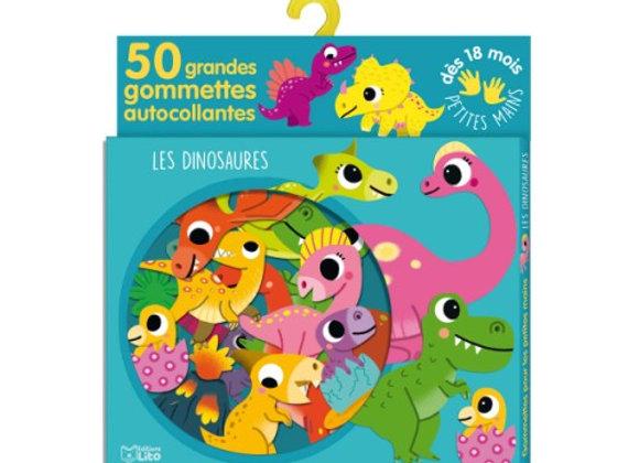 50 grandes gommettes les dinosaures