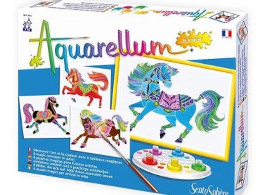 aquarelles chevaux