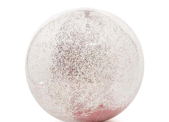 Ballon gonflable rose paillettes