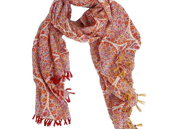 Paréo /écharpe Nicole rouge