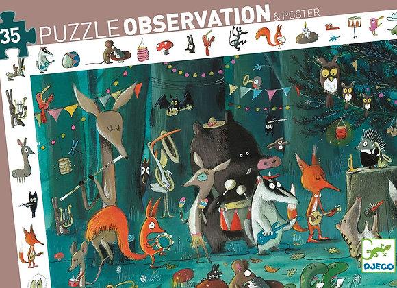 puzzle d'observation l'orchestre 3 ans - Djeco