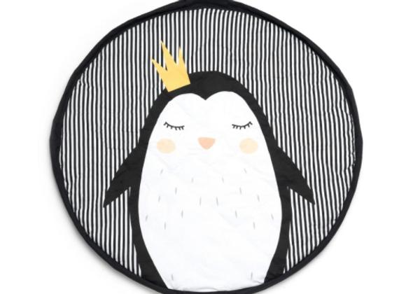 Sac de rangement pour jouets et tapis de jeux motif pinguin Play&Go