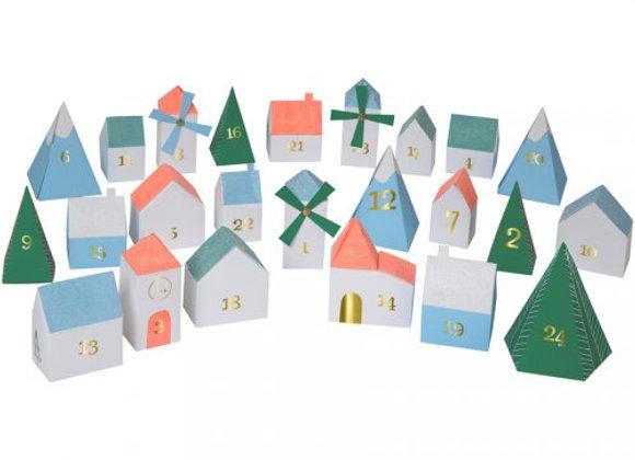 village de l'Avent avec 24 petites boites