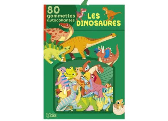 80  gommettes dinosaures