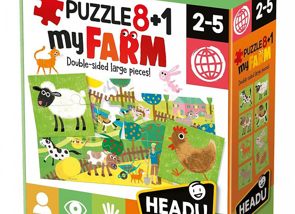 Puzzle 8+1 Farm Âge: 2-5  - HEADU