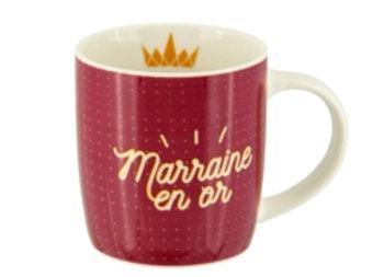 Mug super marraine en or