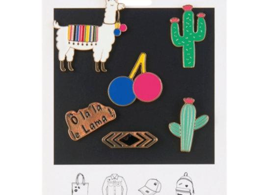 Ensemble 6 pin's Lama