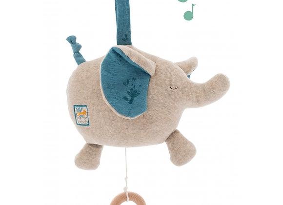 Peluche musicale éléphant- Sous mon Baobab