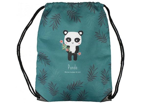 Sac à dos coulisse panda - Décodelire