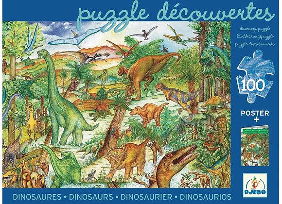 Puzzle Dinosaures 100 pièces - Deco