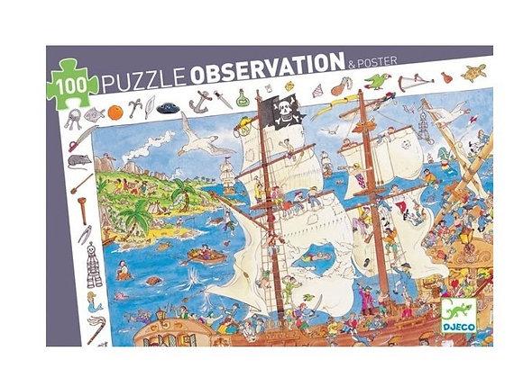 puzzle d'observationpiratesde 100 pièces -Djeco