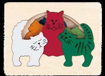 Puzzles bois chats