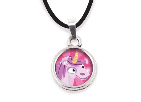 Collier Les Minis  - Licorne rose