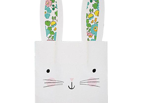 Pochettes cadeaux motif lapins - Lot de 8