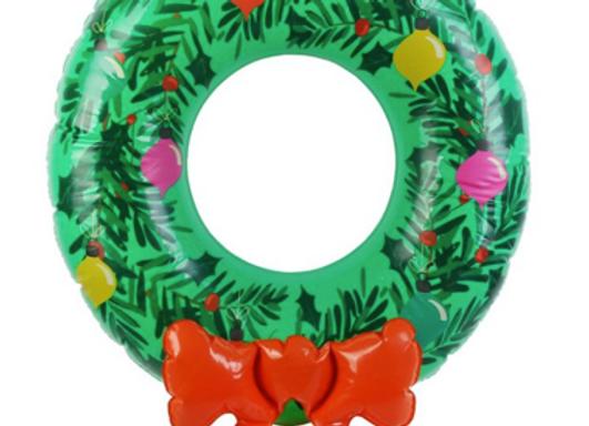 Couronne de Noël gonflable - La chaise longue