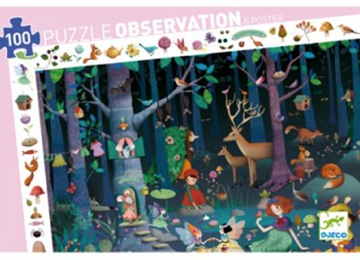 puzzle d'observationLa forêt enchantée-Djeco