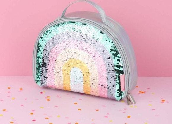 Lunch bag isotherme arc en ciel paillettes