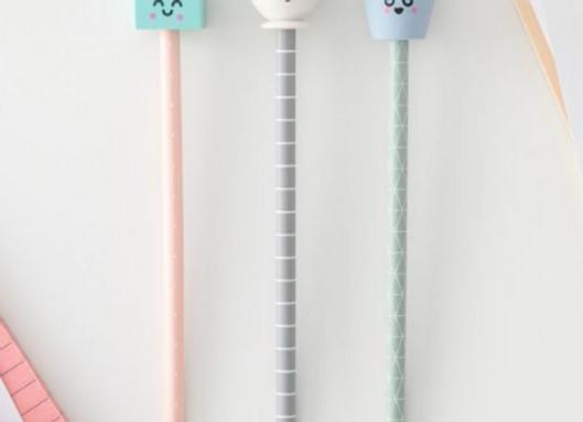 Crayons avec gomme - Lait, tasse et glace
