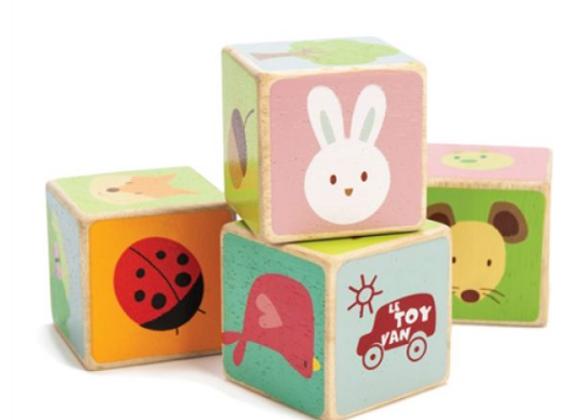 4 cubes en bois - Le Toy Van