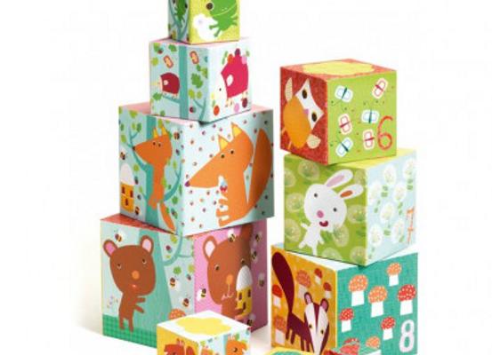 """cubes à empiler""""la forêt"""""""