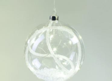 Boule suspendue en verre + led - (961)