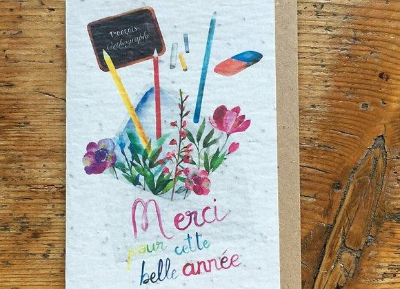 Carte merci crayons