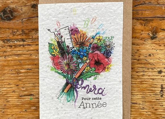 Carte merci bouquet