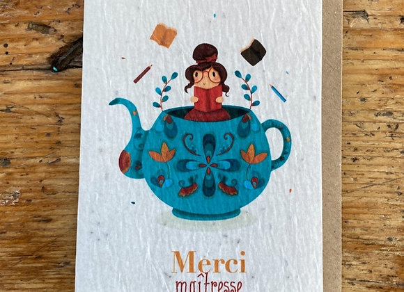 Carte merci theière