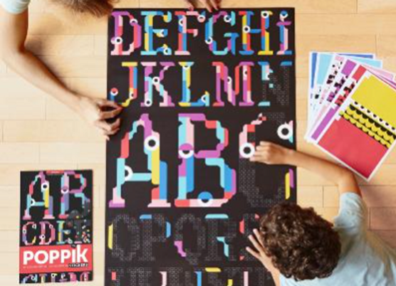 POPPIK - Poster géant + 1600 tickets  ALPHABET